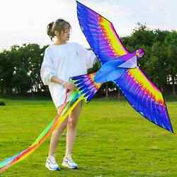 Rainbow Color Big Bird Kite 300cm Colorful Swallow Flying Toy Control Easy Q2J2 $13.42