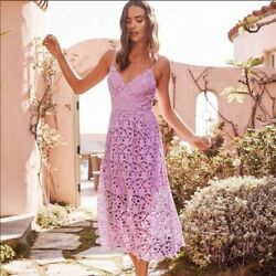 ASTR the Label Lilac Lace Midi Dress Size Extra Small $72.95