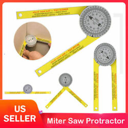 Miter Saw Protractor Dial Accurate Angle Finder with Laser Engraved Scales US $8.59