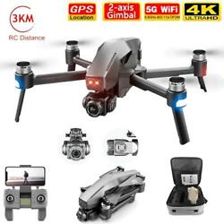 2021 M1 Pro 5g Wifi Fpv 2 axis Gimbal Quadcopter With Camera 6k Drone Gps 3km $207.00