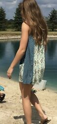 Umgee Tunic Size Small Boho Blue Pattern Peasant Style With Pockets $12.00