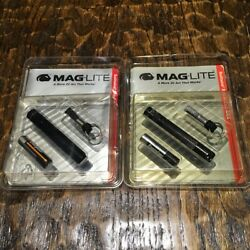2 Pack MAGLITE Solitaire 1 Cell AAA Flashlight Keychain Vintage Year 1993 $20.00