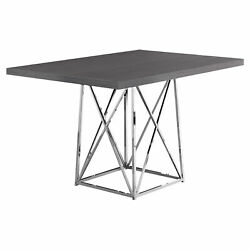 Monarch Contemporary Dining Table In Grey Finish I 1059 $241.80