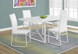 Monarch Contemporary Dining Table In White Finish I 1101 $353.60