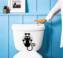 Funny Claw Cat Bathroom Decor Room Sticker Classic Home Wall Decals $3.49