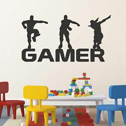 US Letter Gamer Waterproof Decal DIY Wall Sticker Removable Art Mural Home Decor $7.59