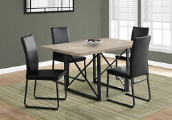 Monarch Contemporary Dining Table In Dark Taupe And Black Finish I 1100 $353.60