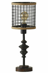 GwG Outlet Black Metal Mini Lamp with Cage Shade $74.95
