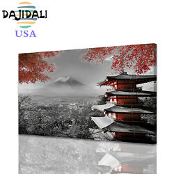 Wall Art Japanese Temple In Autumn Canvas Print Painting Poster For Home Decor $16.99