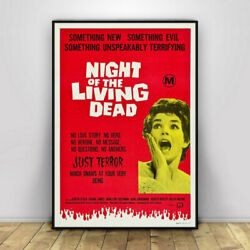 Night of the Living Dead Vintage Movie Poster Wall Painting Retro Poster Prints $14.99