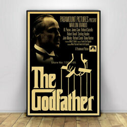 The Godfather Poster Movie Vintage Poster Wall Painting Home Decor Retro Poster $14.99