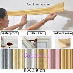 3D Waterproof Self Adhesive Pattern Border Wall Decor Removable Paper Sticker $7.51