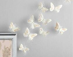 Inspired by Jewel Butterfly Wall Decorations Premium Quality Real Feather 3D ... $24.33