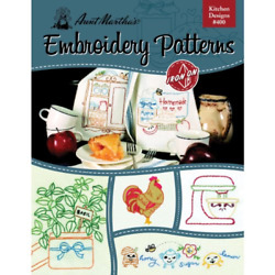 Aunt Martha#x27;s 400 Kitchen Designs Embroidery Transfer Pattern Book Over 25 Iron $9.48