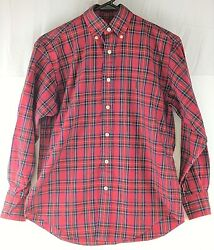 Ralph Lauren Polo Sport Womens Size 2 Red Checked Long Sleeve Casual Shirt $11.99