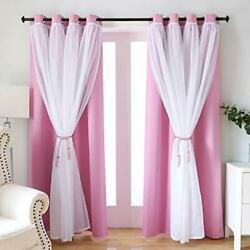 Girls Bedroom Curtains Blackout Curtains for Kids Bedroom SearchI Solid Gromm... $37.64