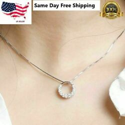 Fashion 925 Silver Necklace Pendant for Women White Sapphire Wedding Jewelry $3.95