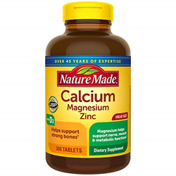 Nature Made Calcium Magnesium Oxide Zinc with Vitamin D3 helps support Bone $12.01