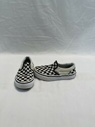 Vans Off The Wall Girls Boys Black white Checkerboard Shoes size 12 C $18.00