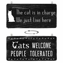 Home Decor Signs Farmhouse Cat Signs for Home Decor Wall Rustic Home Decor Ho... $16.69