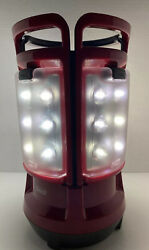 Coleman LED Quad Lantern 4 Lights in 1 New Rechargeable Batteries Red Gray VG $59.95