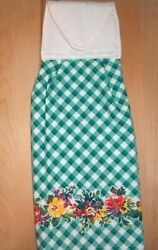 HANGING KITCHEN TOWEL FABRIC TOP THE PIONEER WOMAN GREEN PLAID $4.80