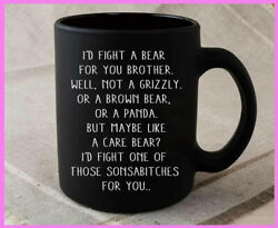 I Would Fight A Bear For You Brother Funny Coffee Mug Graduation Gifts For Broth $13.92