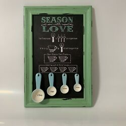 Measuring Spoon Rack Sign Season With Love Country Kitchen Decor $24.99