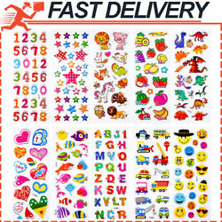 200 Pcs 10 Different Sheets Puffy Stickers Cute Stickers Kids Stickers $6.25