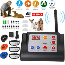Wireless Electric Dog Fence Pet Containment System Shock Collar For 1 2 3 Dog US $79.99