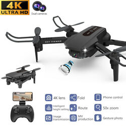 Mini Drone WiFi FPV Dual Camera Foldable RC Quadcopter Altitude Hold Helicopter $32.99