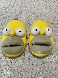 Homer Simpson The Simpsons Mens Slippers Plush Novelty Size 13 2008 $20.00