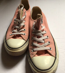 Converse All Star Womens Size 9 Pink and White Sneakers Shoes Low Top $20.00