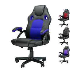 Leather Gaming Racing Chair Ergonomic Recliner Executive Office Computer Chair $58.99