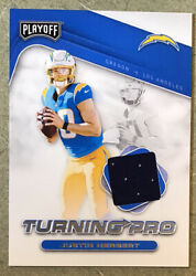 🧨⚡️2020 JUSTIN HERBERT PLAYOFF TURNING PRO PATCH RC⚡️CHARGERS GRADABLE💎 $23.50