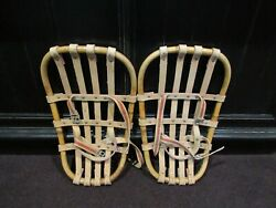 VINTAGE UNUSUAL BENT WOOD SNOWSHOES Snabb SWEDEN? COMPACT WELL MADE $99.00