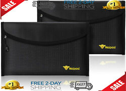 Noiposi Fireproof Money Bag 8x5 Waterproof and Fireproof Envelope Small Safe $27.99