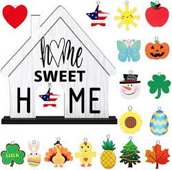 Home Interchangeable Decorative Sign Wooden Decorative Home Sweet Home Signs Int $23.99