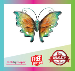 Bownew Butterfly Wall Decor Metal Outdoor Garden Hanging Art Insect Theme Decora $29.99