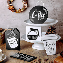 5 Pieces Coffee Bar Tier Tray Decorations Kitchen Coffee Station Supplies But Fi $27.99