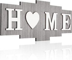 Home Signs for Home Decor Wood Home Sign Home Sweet Heart Rustic Wall Decor W $7.99