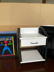 Rare American Girl Doll Pleasant CO. Vintage Nightstand Desk W drawer in white $46.95