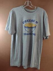 Life is Good Mens in the Kitchen Cheese Thank You Grey Mens MED $7.95