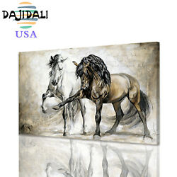 DJDL Horse Abstract Wall Art Canvas Print Painting Poster Picture Home Decor $12.99