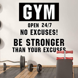 Gym Wall DecalsGym Motivational Vinyl Wall Decal Workout Inspirational Quotes W $9.99