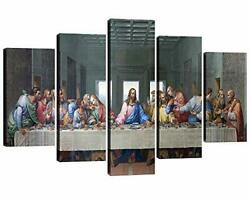 Fu Keivy Jesus Last Supper Wall Decor for Dining Room Kitchen Canvas Wall Art... $50.02