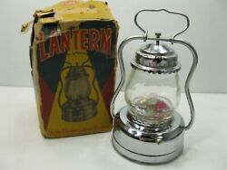 Vintage Lantern Made in Japan by AAA with Original Box Works READ DESCRIPTION $34.95