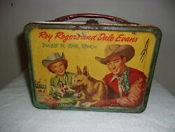 Roy Rogers and Dale Evans Metal Lunchbox 1957 $41.99