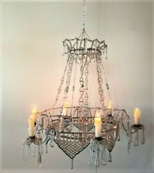 Antique Traveling Beaded Candlelit Chandelier and Case. $1800.00