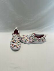Vans Off The Wall Girls Multicolored Cheetah Print Shoes size 2.5 Y $18.00